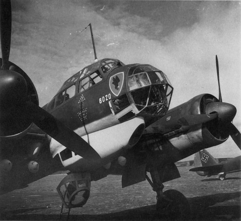 Ju88a5 kg30 wrkn8020 france1940 22f s
